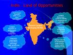 India – Land of Opportunities