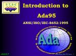 Introduction to  Ada95 ANSI/ISO/IEC-8652:1995