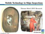 Mobile Technology in Ships Inspections