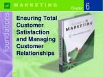 Ensuring Total Customer Satisfaction and Managing Customer Relationships