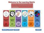 Welcome to the Learning Matrix