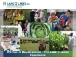 Women in Development - The Land O Lakes Experience