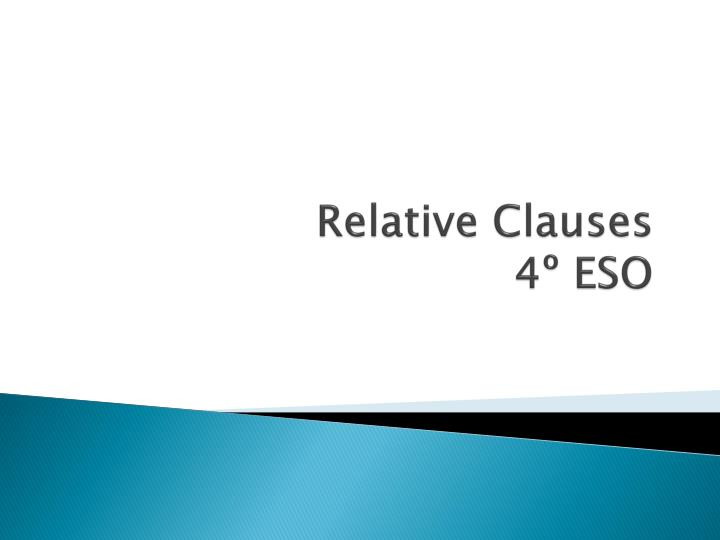 relative clauses 4 eso n.