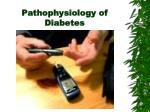Pathophysiology of Diabetes