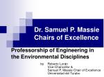 Dr. Samuel P. Massie Chairs of Excellence