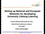Setting up National and European Networks for developing  University Lifelong Learning