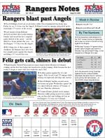 Rangers Notes