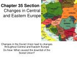 Chapter 35 Section 4 Changes in Central and Eastern Europe