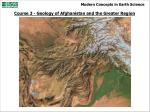 Course 3 - Geology of Afghanistan and the Greater Region
