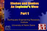 Earthquake Engineering Research Institute University of Notre Dame