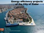 Energy efficiency projects of the City of Zadar