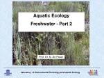 Aquatic Ecology Freshwater - Part 2