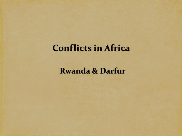 conflicts in africa n.