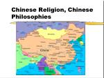 Chinese Religion, Chinese Philosophies