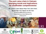 The pork value chain in Vietnam: emerging trends and implications