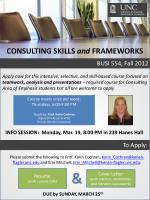 CONSULTING SKILLS and FRAMEWORKS