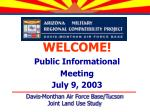 WELCOME! Public Informational Meeting July 9, 2003