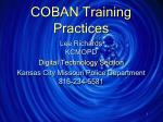 COBAN Training Practices