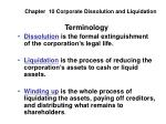 Chapter 10 Corporate Dissolution and Liquidation