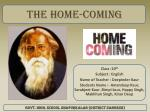 The home-coming