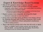 Expert & Knowledge-Based Systems