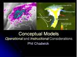 Conceptual Models Operational and Instructional Considerations