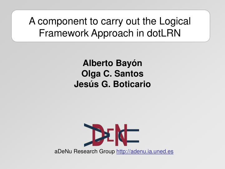 a component to carry out the logical framework approach in dotlrn n.