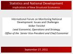 Statistics and National Development Implications of New Structural Economics