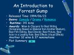 An Introduction to Forrest Gump