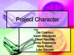 Project Character