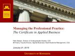 Managing the Professional Practice: The Certificate in Applied Business