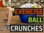 Exercise Ball Crunch