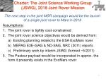 Charter: The Joint Science Working Group (JSWG), 2018 Joint Rover Mission