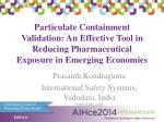 Particulate Containment Validation
