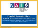 Financially Sustainable Schools: Six Steps to Re-engineering Your School's Financial Future
