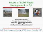 Future of Solid Waste Management in Fiji