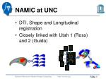NAMIC  at  UNC