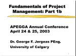 Fundamentals of Project Management: Part 1b