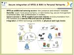 Secure integration of RFID & BSN in Personal Networks