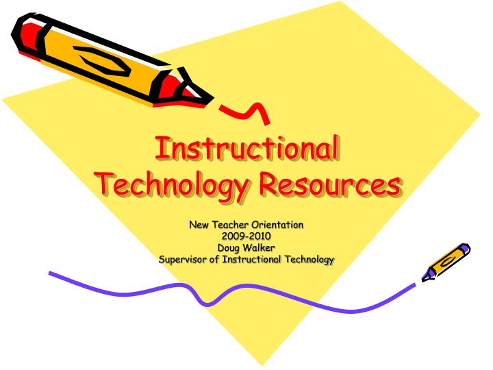 instructional technology resources n.