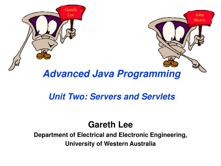 advanced java programming unit two servers and servlets n.