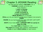 Chapter 3 JIGSAW Reading