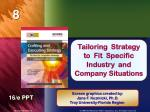 Tailoring Strategy to Fit Specific Industry and Company Situations