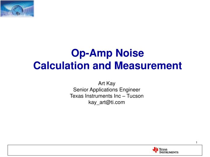 op amp noise calculation and measurement n.