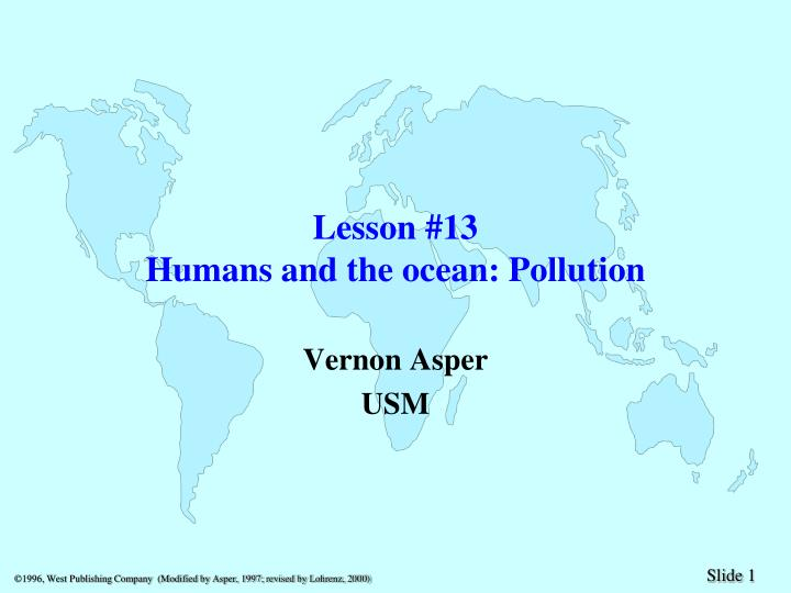 lesson 13 humans and the ocean pollution n.