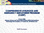 COMPREHENSIVE LIVELIHOOD AND EMERGENCY EMPLOYMENT PROGRAM (CLEEP)