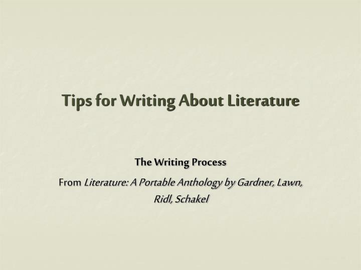 tips for writing about literature n.