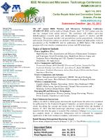 IEEE Wireless and Microwave  Technology Conference WAMICON 2013 April 7-9, 2013