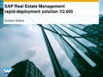 SAP Real Estate Management rapid-deployment solution V2.605