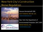 New York City's Construction Noise Regulation